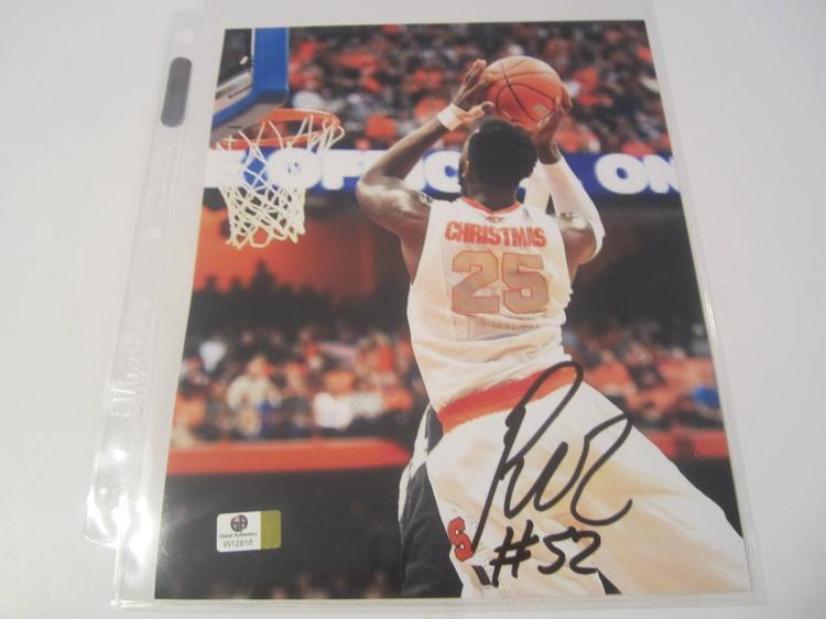 Rakeem Christmas Syracuse Hand Signed autographed 8x10 color photo GAI W COA