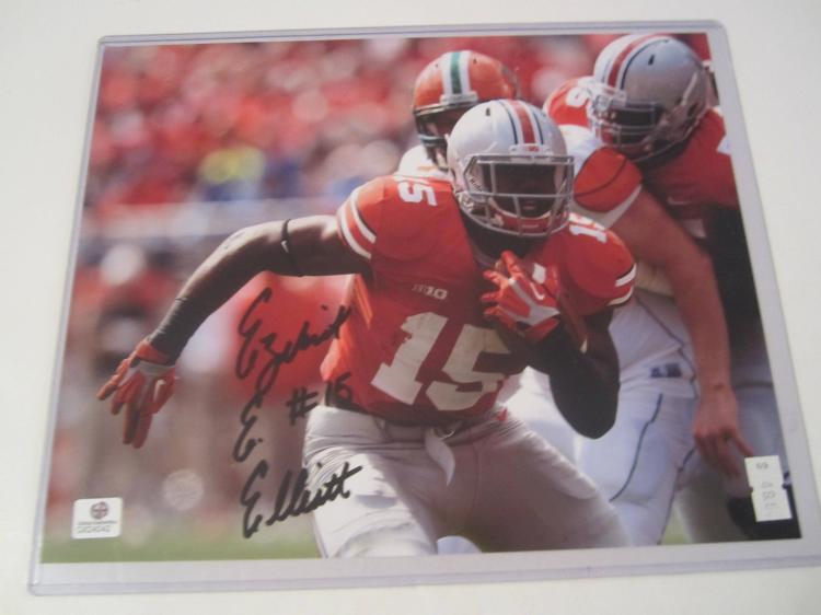 Ezekiel Elliott Ohio State Buckeyes Hand Signed autographed 8x10 color photo GAI GX COA