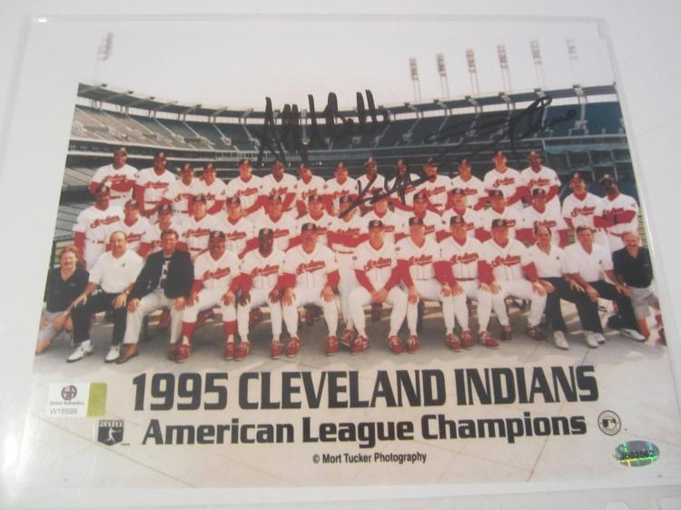 Belle/Lofton/Thome Cleveland Indians Hand Signed autographed 8x10 color photo GAI W COA