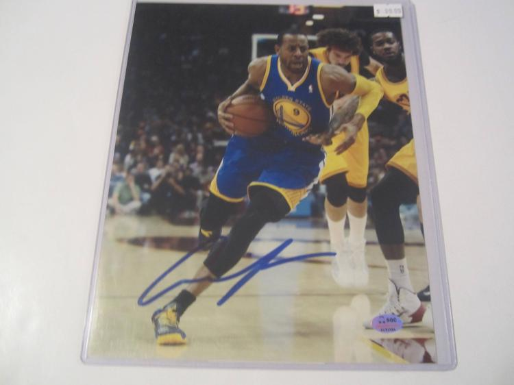 Andre Iguodala Golden State Warriors Hand Signed autographed 8x10 SGC COA