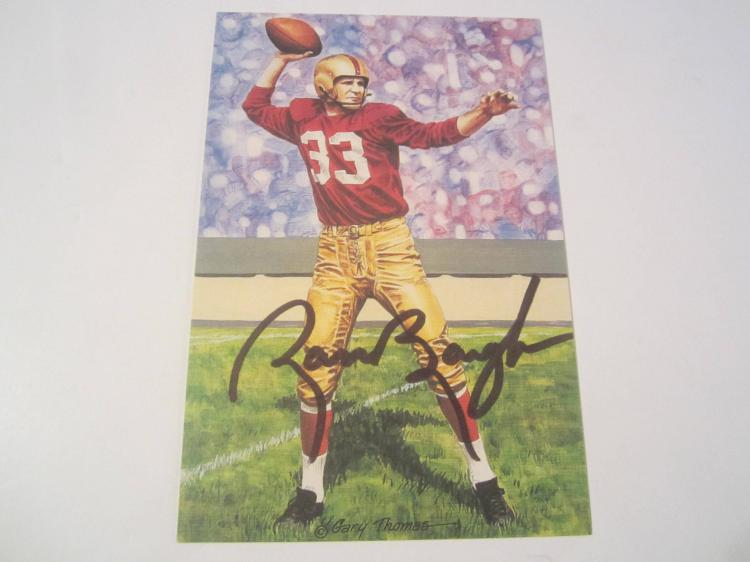 Sammy Baugh Washington Redskins HOF Signed Autographed Goal Line Art Card PAAS COA