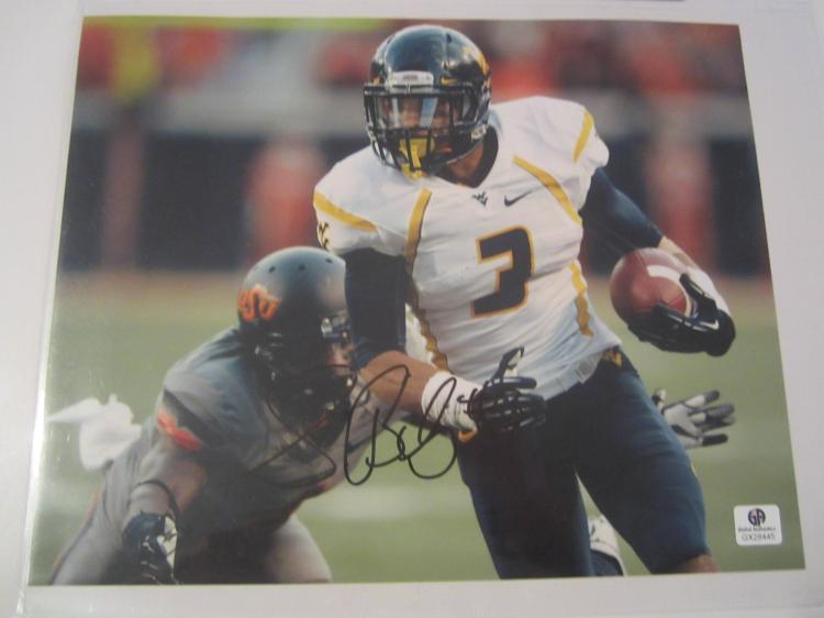 Stedman Bailey West Virginia Hand Signed autographed 8x10 color photo GAI GX COA
