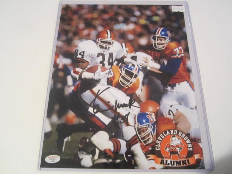 Kevin Mack Cleveland Browns Hand Signed autographed 8x10 PAAS COA