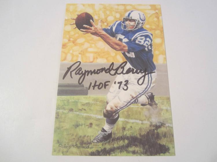 Raymond Berry Baltimore Colts HOF Signed Autographed Goal Line Art Card COA