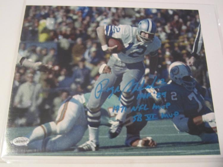 Roger Staubach Dallas Cowboys Hand Signed autographed 8x10 AI COA