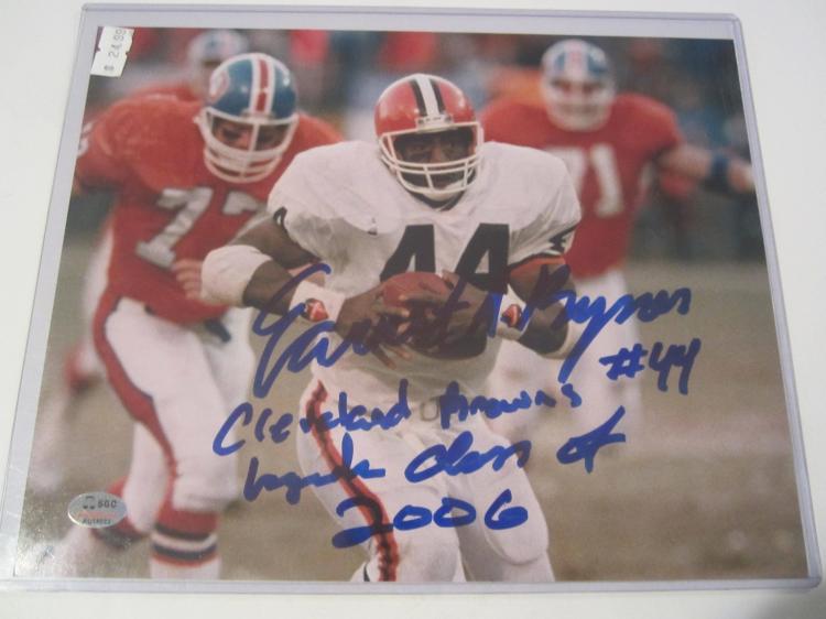 Ernest Byner Cleveland Browns Hand Signed autographed 8x10 SGC COA