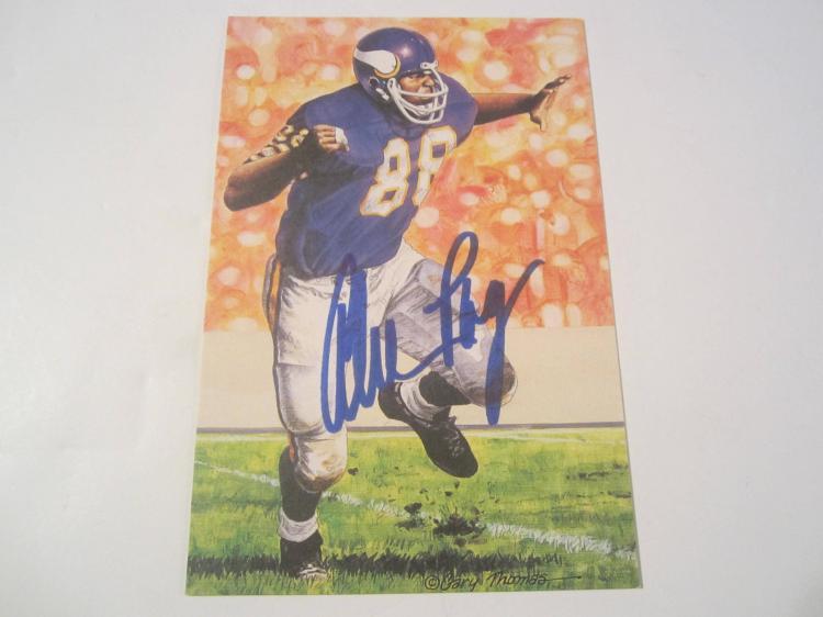 Alan Page Minnesota Vikings Signed Autographed Goal Line Art Card COA