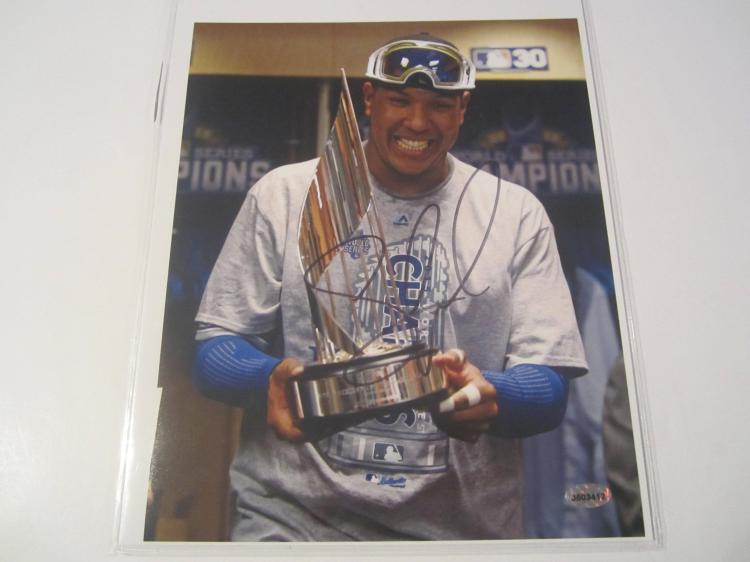Salvador Perez Kansas City Royals Hand Signed autographed 8x10 AI COA