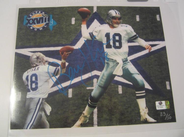 Bernie Kosar Dallas Cowboys Hand Signed autographed 8x10 color photo GAI GX COA