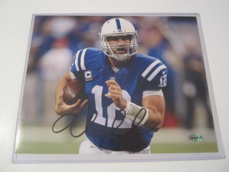 Andrew Luck Indianapolis Colts Hand Signed autographed 8x10 AI COA