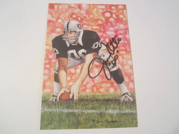 Jim Otto Oakland Raiders HOF Signed Autographed Goal Line Art Card PAAS COA