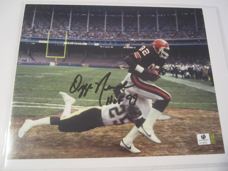 Ozzie Newsome Cleveland Browns Hand Signed autographed 8x10 color photo GAI W COA