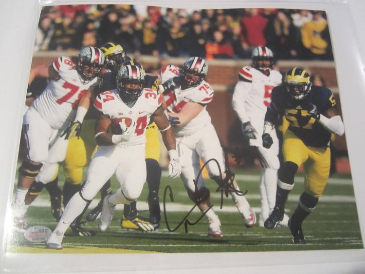 Carlos Hyde Ohio State Buckeyes Hand Signed autographed 8x10 SGC COA
