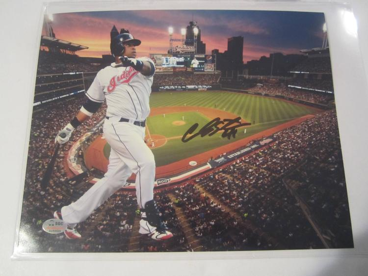 Carlos Santana Cleveland Indians Hand Signed autographed 8x10 SGC COA