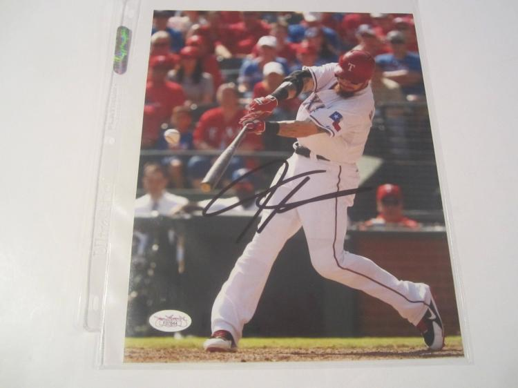 Josh Hamilton Texas Rangers Hand Signed autographed 8x10 color photo JSA COA