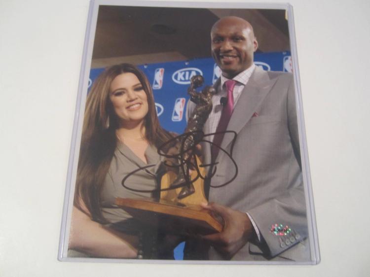 Lamar Odom Hand Signed autographed 8x10 AI COA