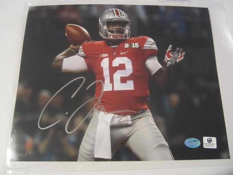 Cardale Jones Ohio State Buckeyes Hand Signed autographed 8x10 SGC COA