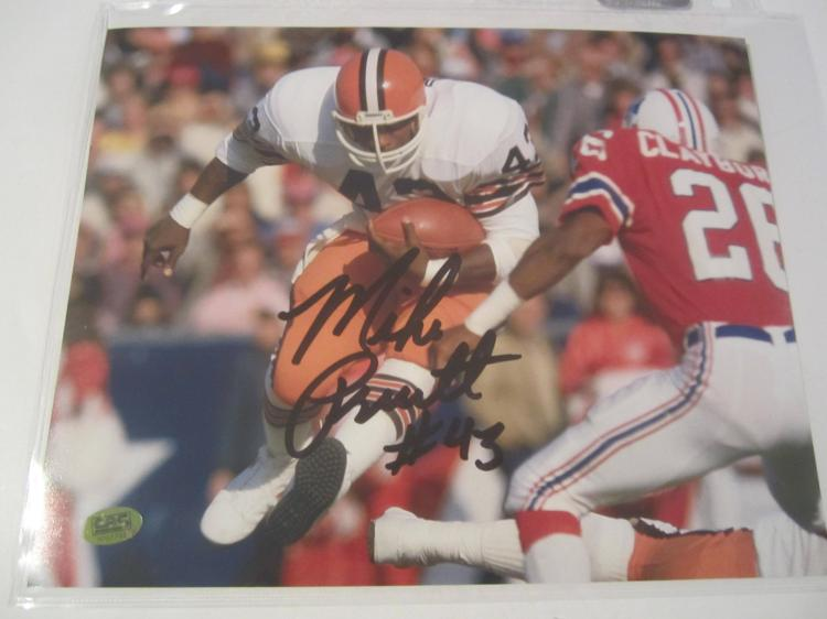 Mike Pruitt Cleveland Browns Hand Signed autographed 8x10 color photo CAS COA