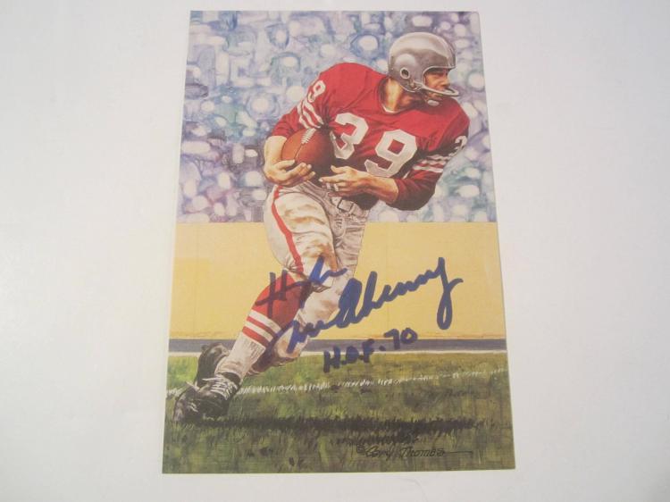 Hugh McElhenny San Francisco 49ers HOF Signed Autographed Goal Line Art Card PAAS COA