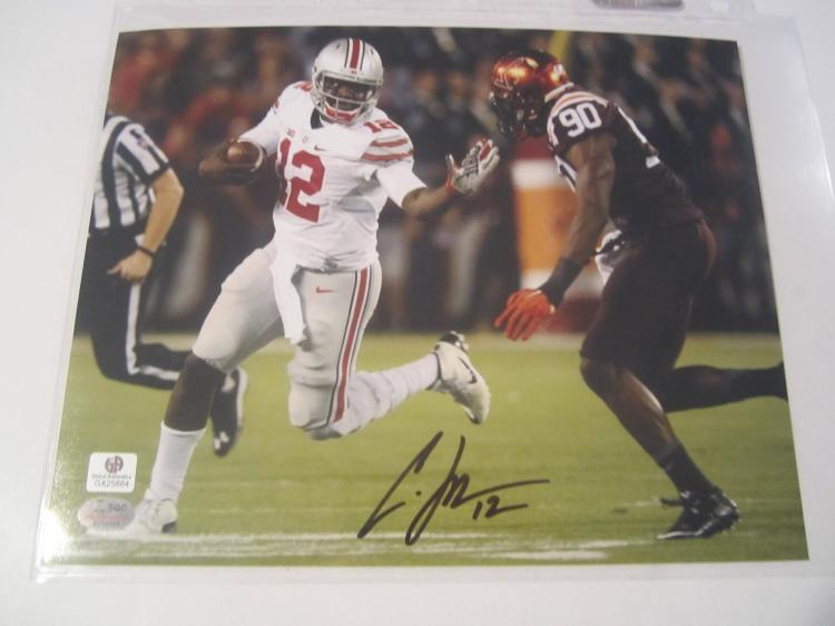 Terrelle Pryor Ohio State Buckeyes Hand Signed autographed 8x10 color photo GAI W COA