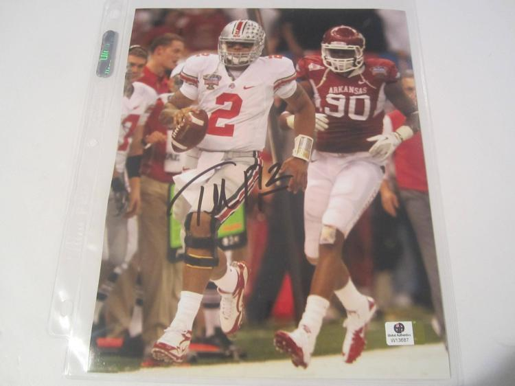 Cardale Jones Ohio State Buckeyes Hand Signed autographed 8x10 color photo GAI GX COA