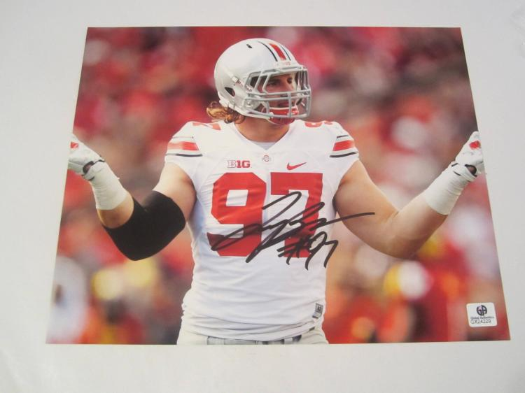 Joe Bosa Ohio State Buckeyes Hand Signed autographed 8x10 color photo GAI GX COA