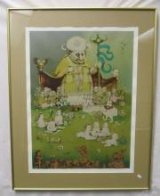 """CHARLES BRAGG /""""ENVY/"""" Hand Signed Limited Edition Etching RARE!"""