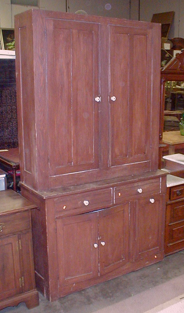 Two piece primitive kitchen cabinet 7 39 5 5 tall 4 39 3 wide for Auctions for kitchen cabinets