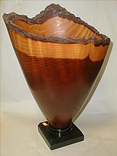Julian Shaw turned redwood vase. 1997. 19