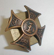 Russian Imperial 1701-1901 cross badge. 1 3/8