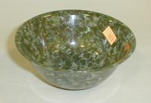 Chinese spinach jade style bowl. 4.75