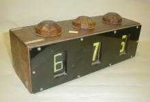 Wood Industrial counter for serving number