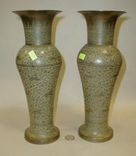 Pair of Indian vases, 12