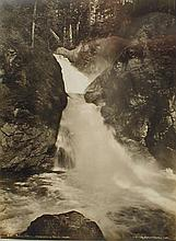 Darius Kinsey (1869-1945) Western WA photographer. 10x13 photo of Twin Falls Snoqualmie River Wash. C 1919. Displayed in new frame.
