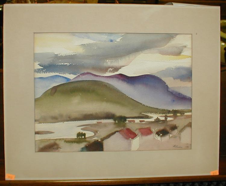 Phil Paradise (1905-1997, California). Signed and dated 1935 lower right. titled lower left 14.5