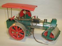 Wilesco Old Smokey toy steam roller. Steering chain not attached, not tested