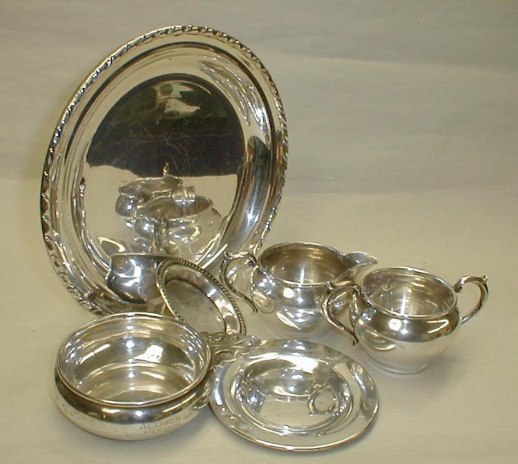 Sterling silver porringer, 4