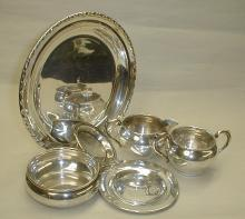 Sterling silver porringer, 4