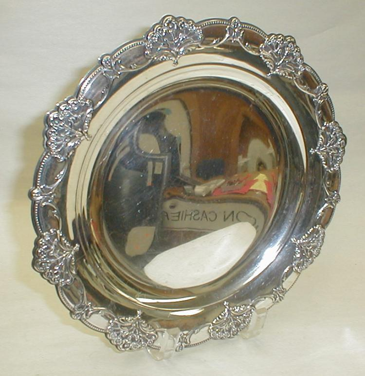 International Sterling Queen's Lace platter. 11