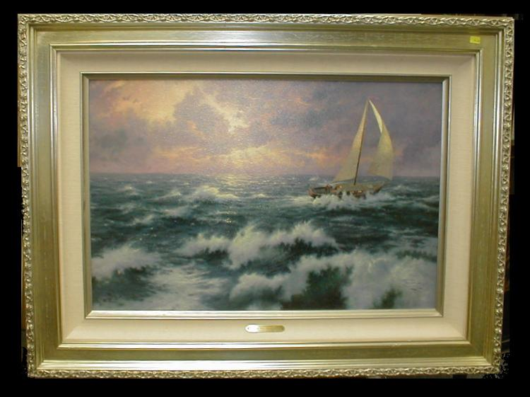 Thomas Kinkade limited edition print on canvas titled Perseverance. 1881/2950. Includes certificate. 18x27