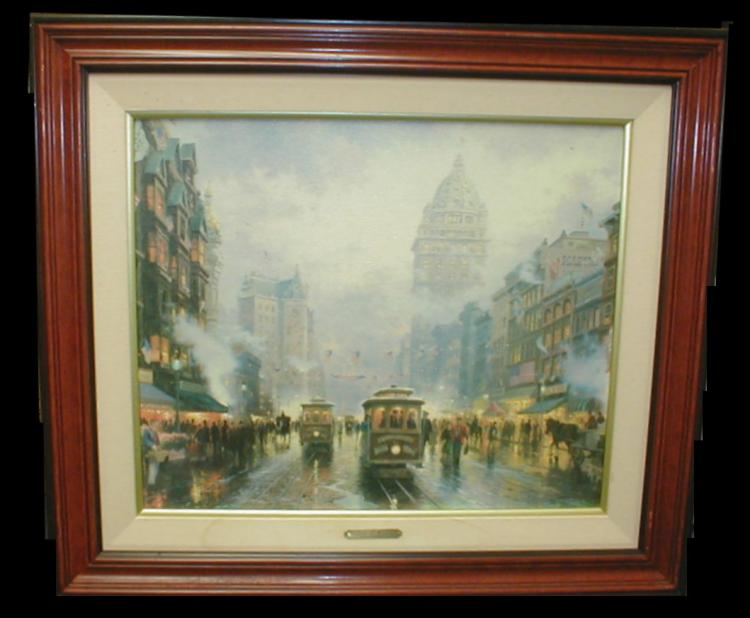Thomas Kinkade print on canvas titled