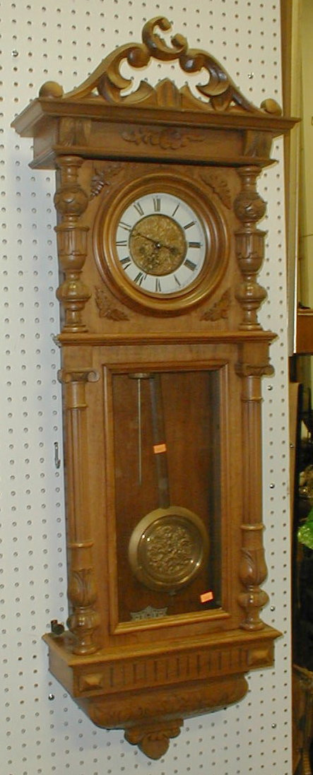 German Junghans regulator wall clock. Case is 49