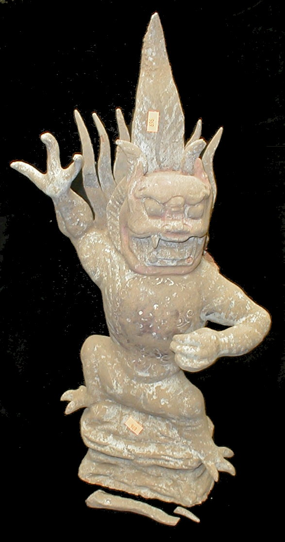 Chinese painted clay earth spirit figure. 21