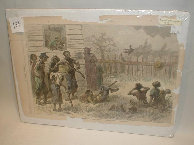 August 28th 1875 Harper's Weekly colored etching book book plate. Titled