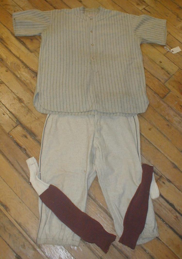 1920's three piece Baseball Uniform. Treman, King & company. Used
