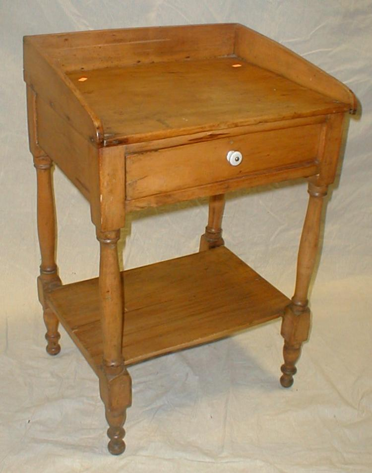 Primitive school desk with drawer and lower shelf. 31.5