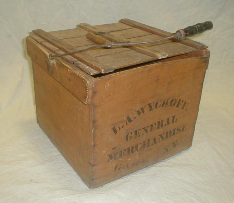 L.A. Wyckoff General Merchandise old wood crate. 11