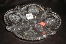 Signed Libbey American Brilliant Cut glass 10
