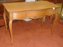 French style oak Desk. All hardware missing