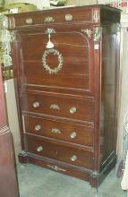Reproduction mahogany butler's desk. 5'8